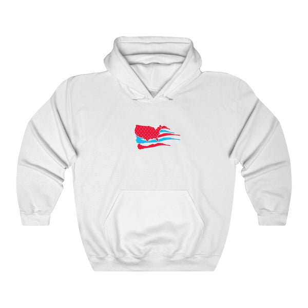 Finatic Red & Blue Flag - Unisex Heavy Blend™ Hooded Sweatshirt