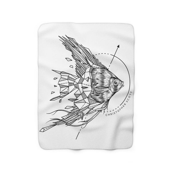 Christopher Scott - Angel Fish - Sherpa Fleece Blanket