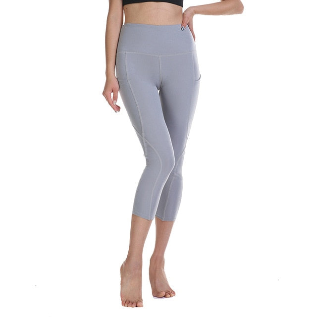 high waist sports legging with pocket for women