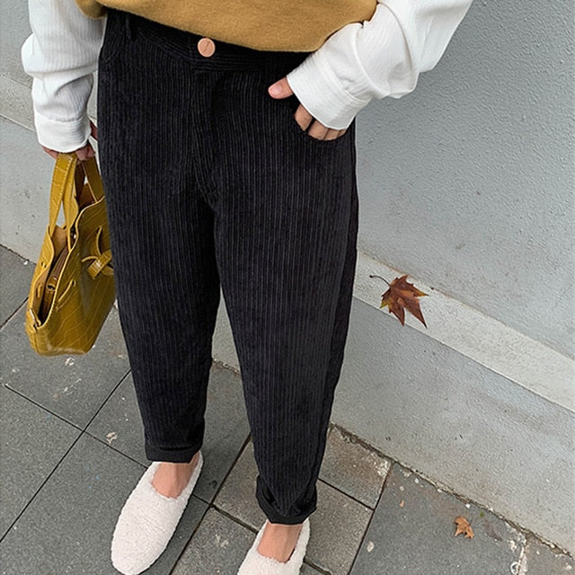Fashion High Waist Female Straight Pants Street wear