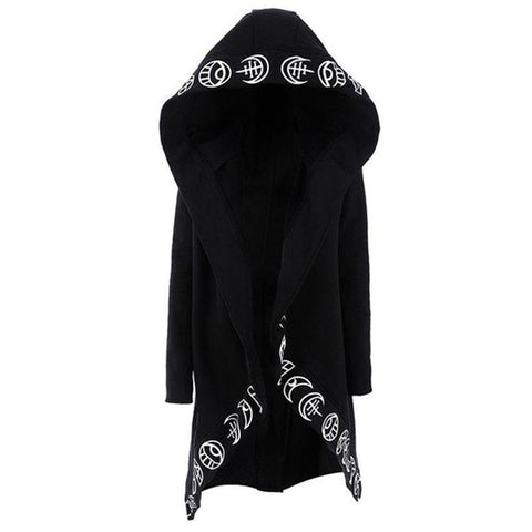 Rosetic Hoodies  Gothic Casual Cool Chic Black Plus Size Women Sweatshirts