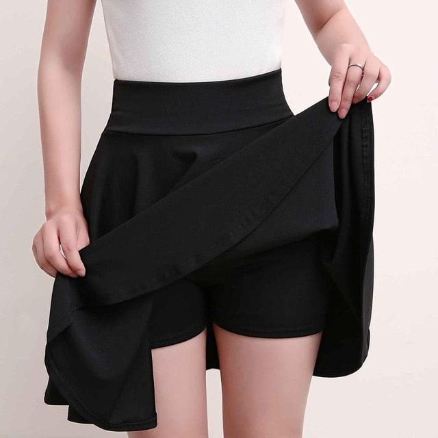 Surmiitro Plus Size 4XL Shorts Skirts Womens 2020 Summer A line Sun School High Waist Pleated Skirt Female Korean Elegant Skirt