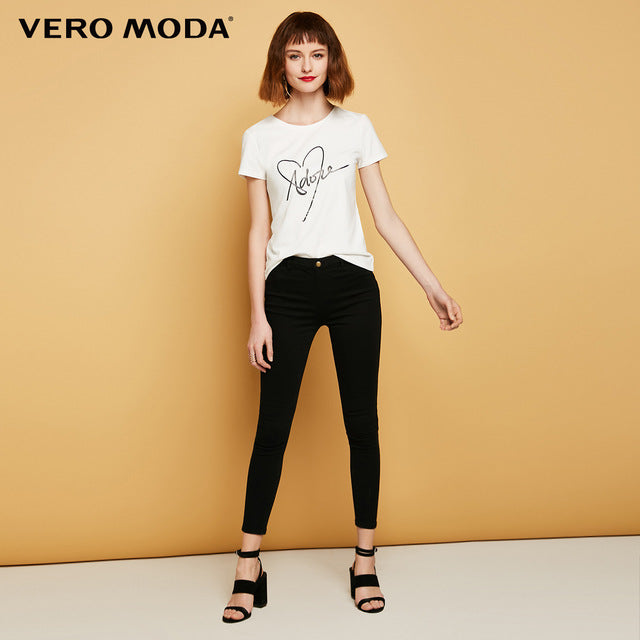 Vero Moda Slim wrap stretch denim pants
