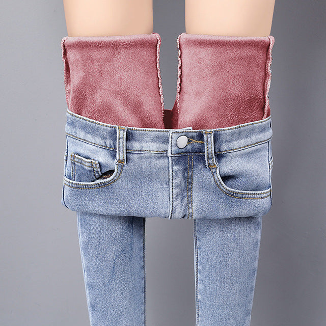 2020 High Waist Casual Velvet Ladies Trousers Female Pantalon