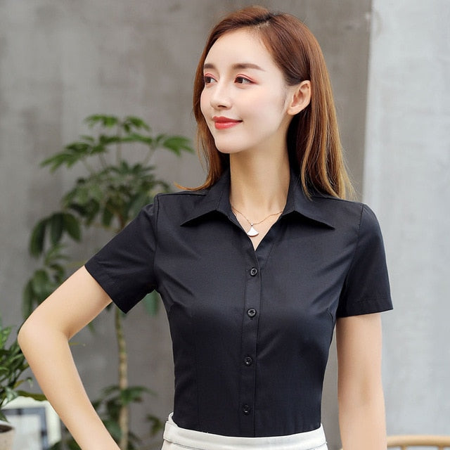 Womens and Blouses Cotton Women Shirts Solid