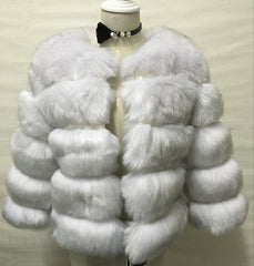 S-3XL Mink Coats Women Winter Top Fashion Pink FAUX Fur Coat