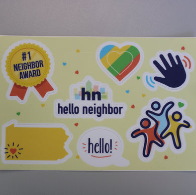 Hello Neighbor Sticker Sheet