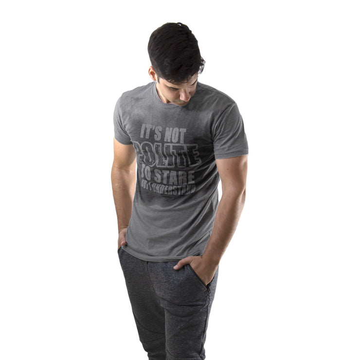 Sweat Activated Tshirt Mens Invisible Message Workout Tee