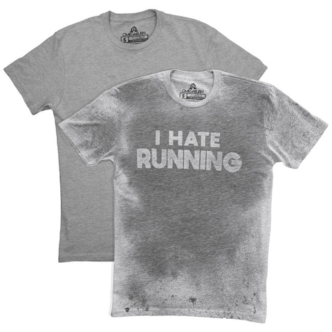 Sweat Activated Men Invisible Message Tshirt I Hate Running