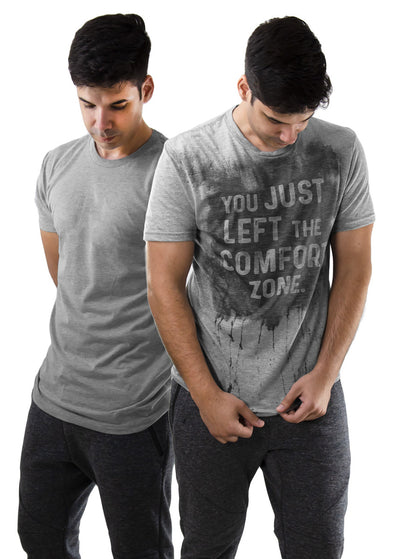 Grey Sweat Activated Workout Tee for Men