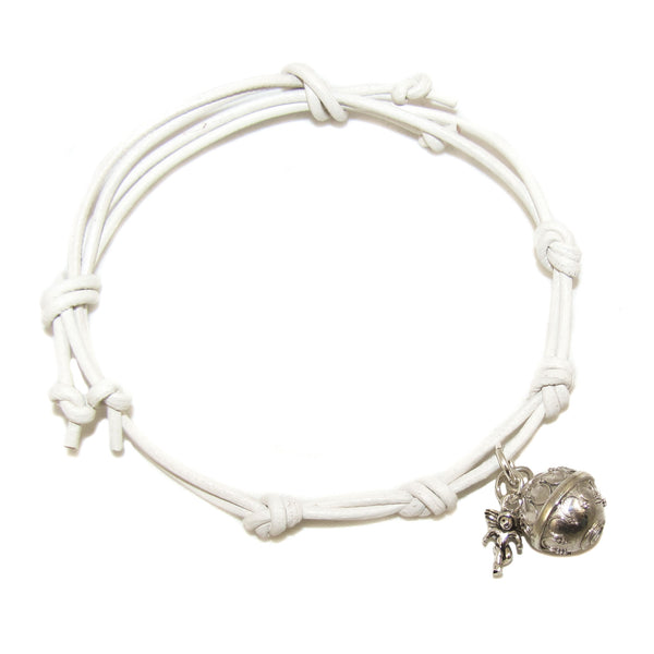 Engelsrufer Engel Charm Leder Armband weiss sweet dreams - samaki originals