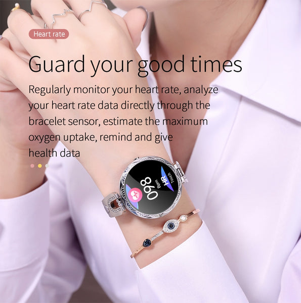 Waterproof womens smart watch
