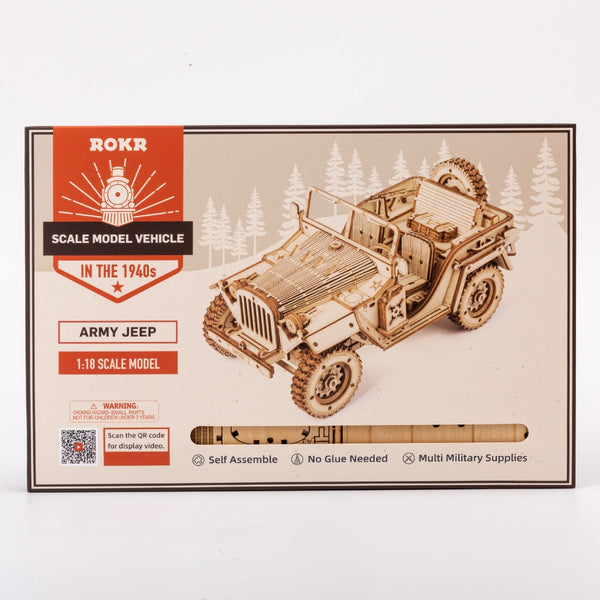 3D puzzle/ 1:18 army jeep model