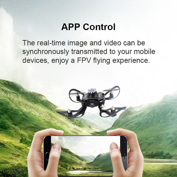 Foldable glove controlled drone