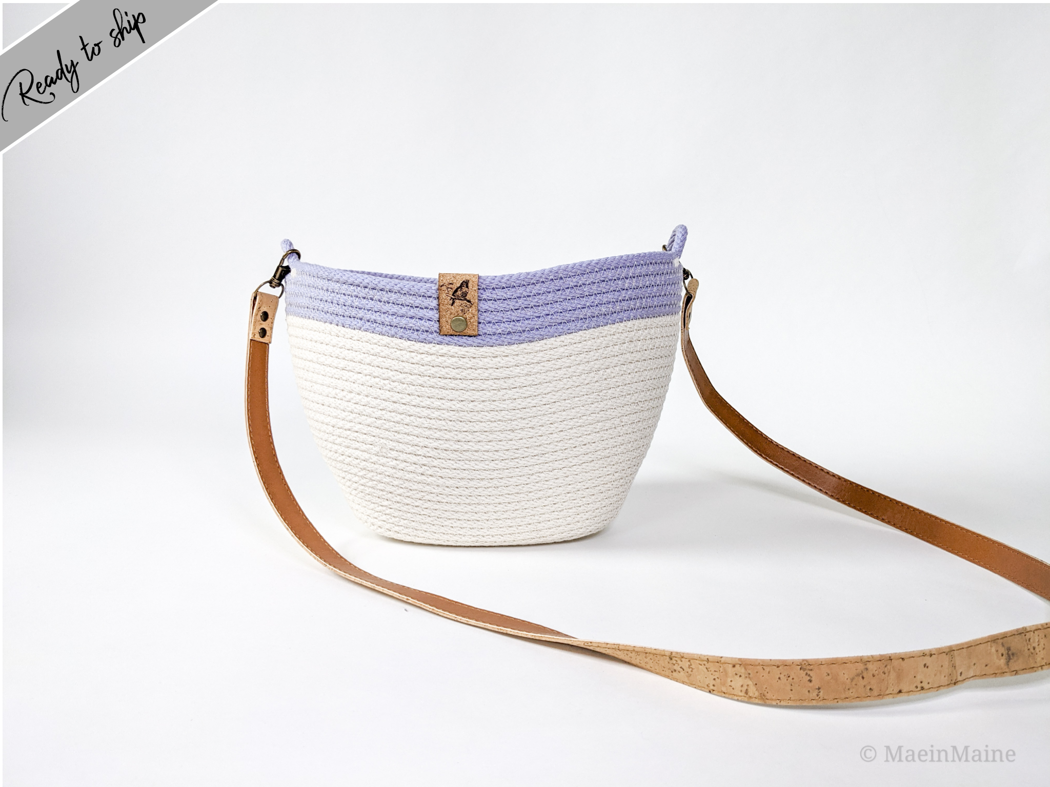 Harbor - Tote in Dyed 'Wisteria'