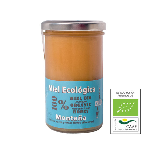Raw Organic Mountain Honey 375g