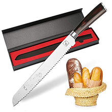 Load image into Gallery viewer, Bread Knife, imarku 10-Inch German High Carbon Stainless Steel Professional Grade Bread Slicing Knife