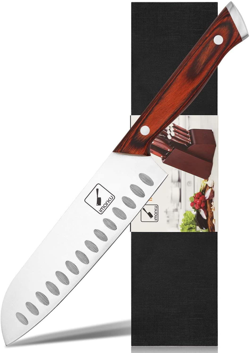 imarku 7-Inch Kitchen Santoku Knife