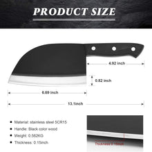 Load image into Gallery viewer, Butcher Knife - imarku 7-inch Kitchen Chopper Knife Full Tang Serbian Chef Knife