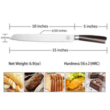 Load image into Gallery viewer, imarku Bread Knife 10 Inch