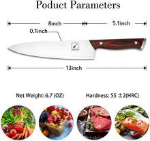 Load image into Gallery viewer, imarku 8-inch Chef Knife High Carbon Stainless Steel Japanese Knife Ultra Sharp Paring Knife