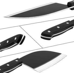 Butcher Knife - imarku 7-inch Kitchen Chopper Knife Full Tang Serbian Chef Knife