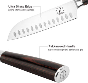 Santoku Knife - imarku 7 inch Kitchen Knife Ultra Sharp Asian Knife Japanese Chef Knife - German HC Stainless Steel 7Cr17Mov