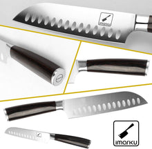 Load image into Gallery viewer, Santoku Knife - imarku 7 inch Kitchen Knife Ultra Sharp Asian Knife Japanese Chef Knife - German HC Stainless Steel 7Cr17Mov