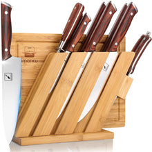 Load image into Gallery viewer, Knife Set with Cutting Board, imarku 10 Pieces Multifunctional Stainless Steel Knife Set with Bamboo Block