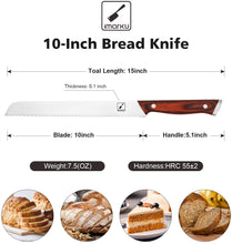 Load image into Gallery viewer, imarku 10-inch Bread Knife