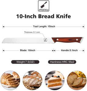 imarku 10-inch Bread Knife