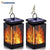 bubsolar 2 PACK LED Solar Lantern Lights Dancing Flame Waterproof Outdoor Hanging Lantern Garden