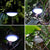 bubsolar 60 LED Solar Camping Light Outdoor Portable Tent Lamp 5 Modes Emergency Lights Lantern