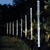 bubsolar 8Pcs Solar Tube Light Bubbles Stick Solar Lamp Pathway Lawn Landscape Decoration Acrylic Outdoor