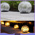 bubsolar Glass Ball LED Solar Light Under Ground Lamp Wireless Crackle Glass Light