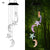 bubsolar LED Solar Powered Butterfly Wind Chimes Light Home Garden Hanging Lamp Outdoor