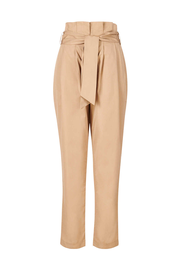 Tailored high-waisted trousers - Vintage Moss