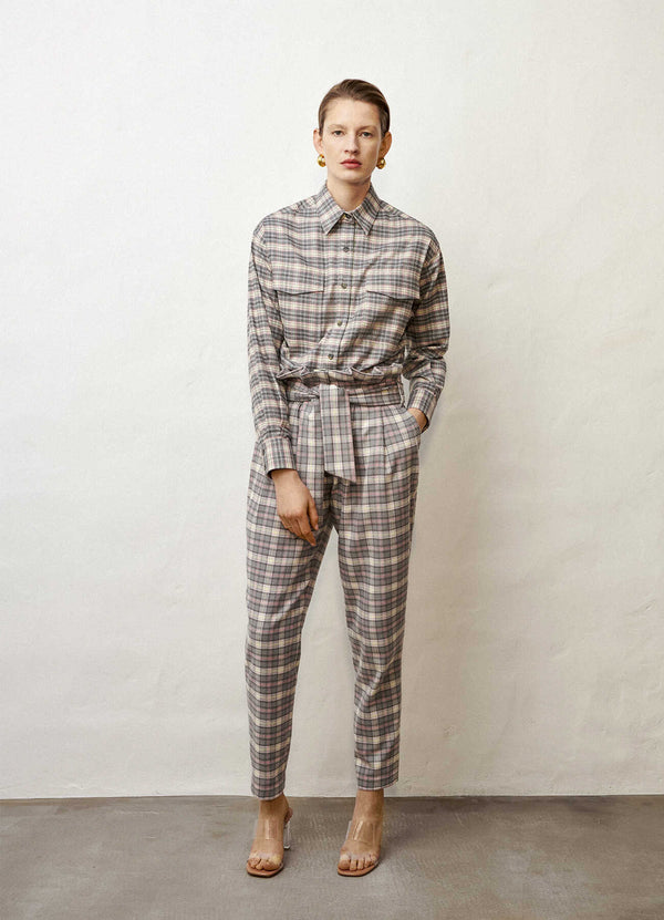 Tailored high-waisted trousers