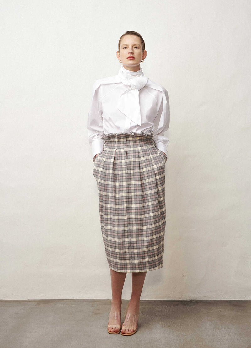 Tailored high-waisted skirt