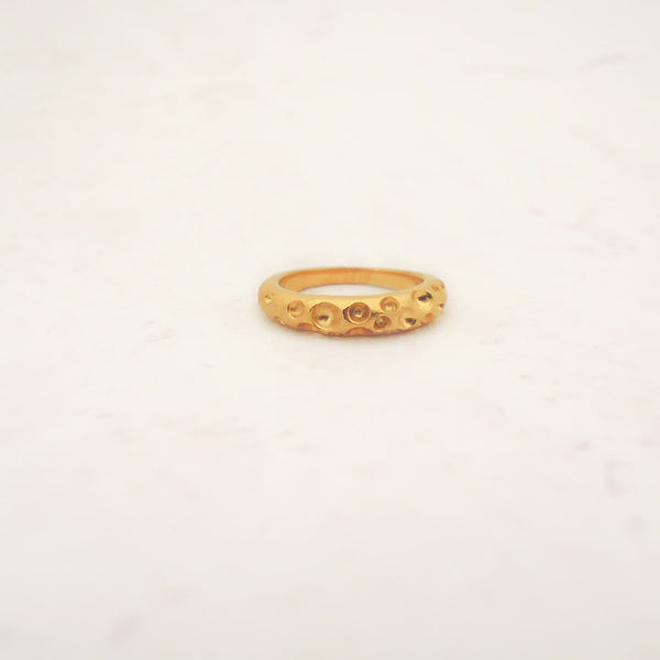 Erger Sterling Golden Ring