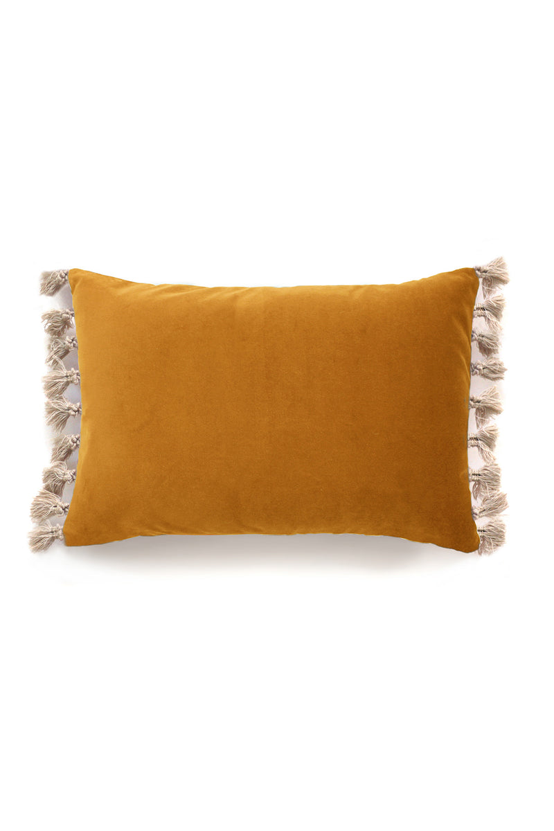 Blush Mustard Velvet Cushion