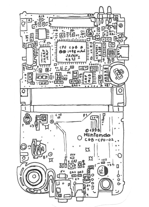 Game Boy Color Motherboard