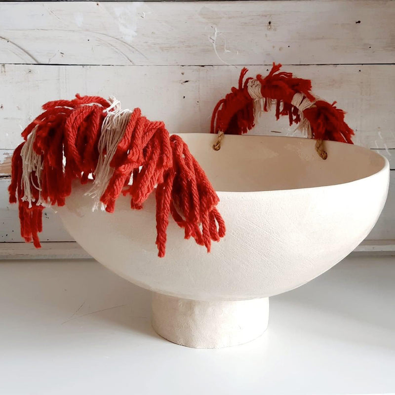 High Fruit Bowl - White