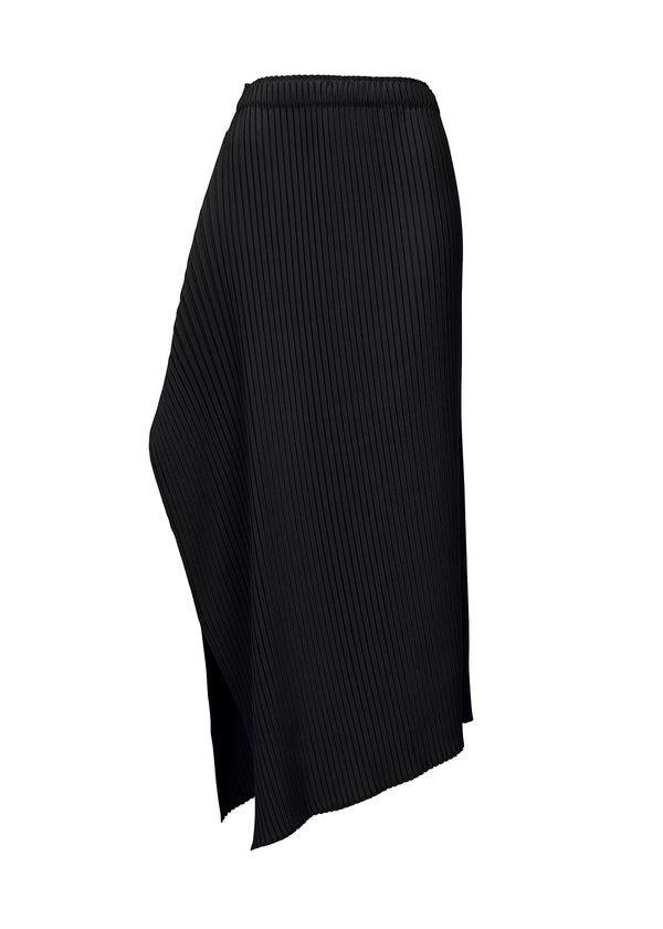Zig-Zag Pleats Solid Skirt FG176