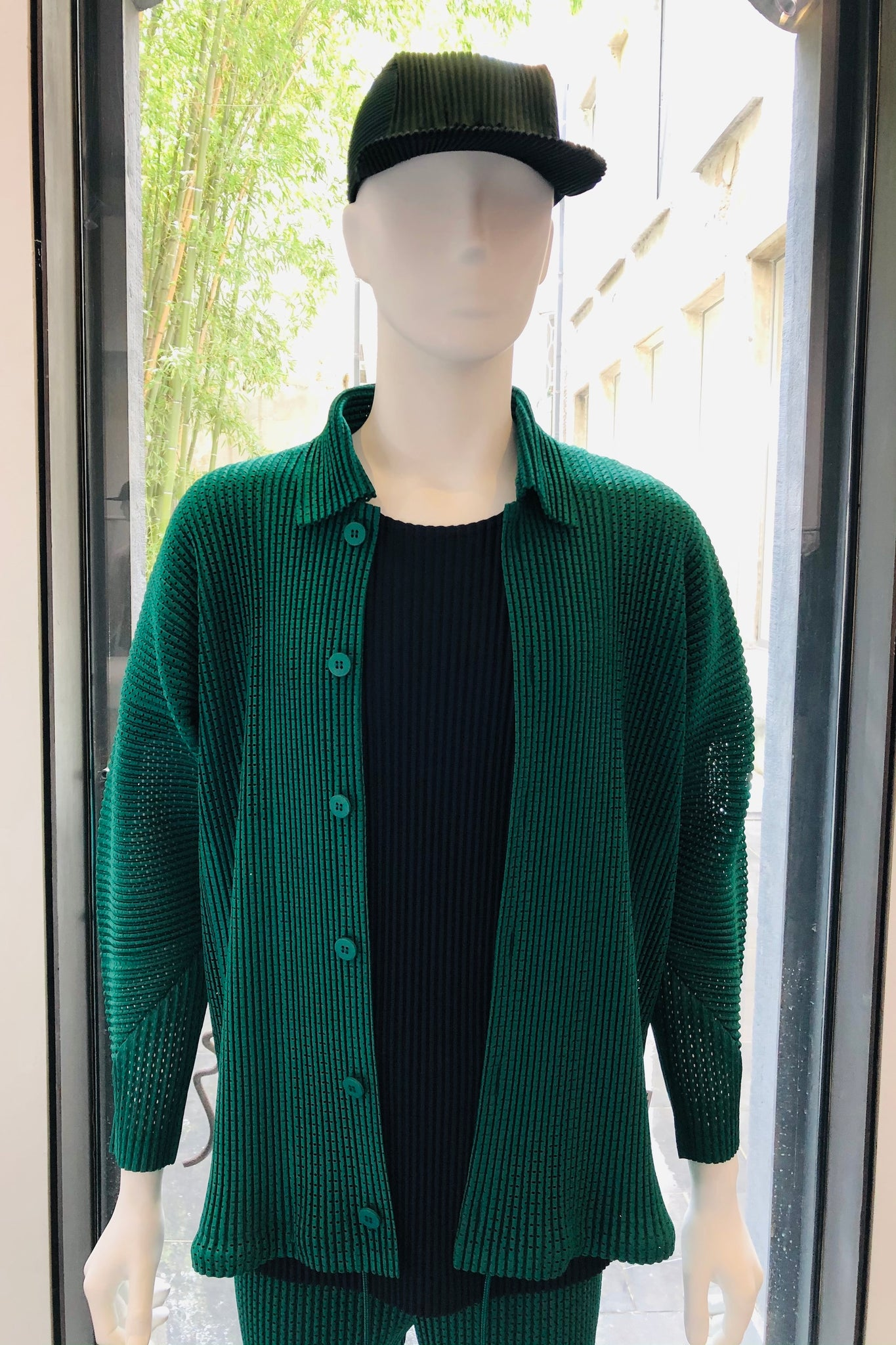 Pleated Mesh Jacket JC140
