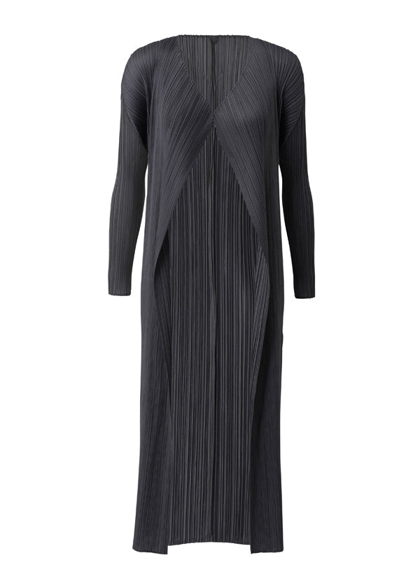 Pleated Basic Long Coat JA109