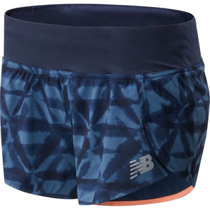 "Women's | New Balance Printed Impact Run 3"" Short"