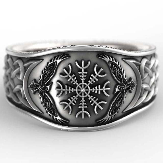 BAGUE VIKING HUGIN & MUNIN-Viking Héritage