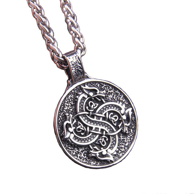 COLLIER DRAGON CELTIQUE (ACIER)
