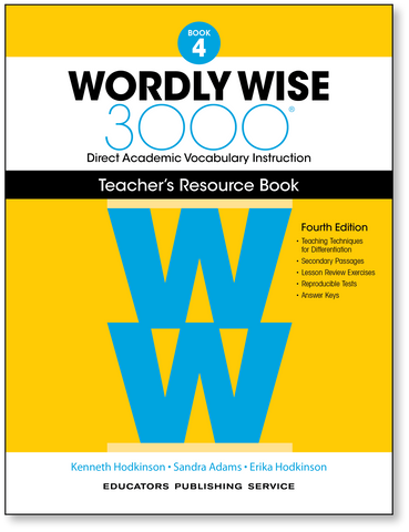 Wordly Wise 3000: Teacher's Resource Book 4 (4th Edition)